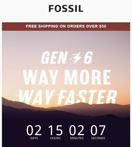 The countdown timer found in an email from Fossil - Fossil Gen 6 smartwatches to be revealed on August 30