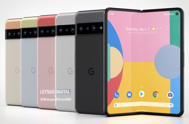 More Pixel Fold renders - Pixel Fold renders surface (VIDEO); Google gets patent for the foldable's hinge