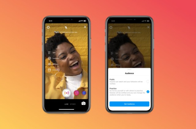 """Instagram will soon have a new """"practice mode"""" feature for live video sessions"""