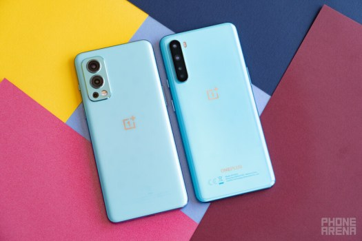 OnePlus Nord 2 - left, Nord - right - OnePlus Nord 2 vs Nord 1