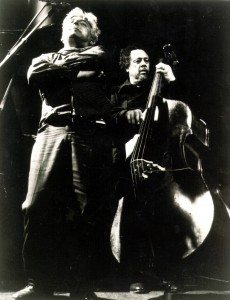 Jack Micheline and Charlie Mingus at San Francisco's California Hall 1976 | Photo by A.D. Winans