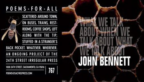 John Bennett - Poems for all by Richard Hansen