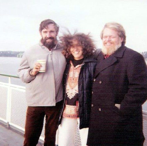 John Bennett, Diane Kruchkow & Harry Smith, the majority of the CCLM grants committee that overrode protocol and distributed the grant money evenly among all applicants...Seattle, WA, early 80s...