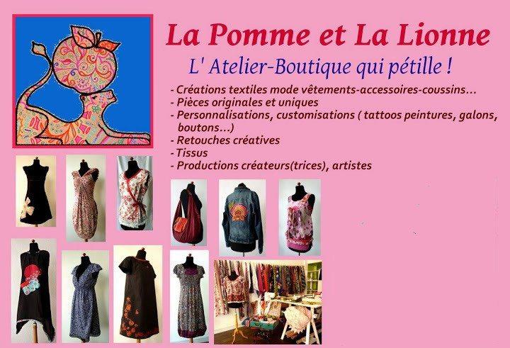 La Pomme et La Lionne – Création textile
