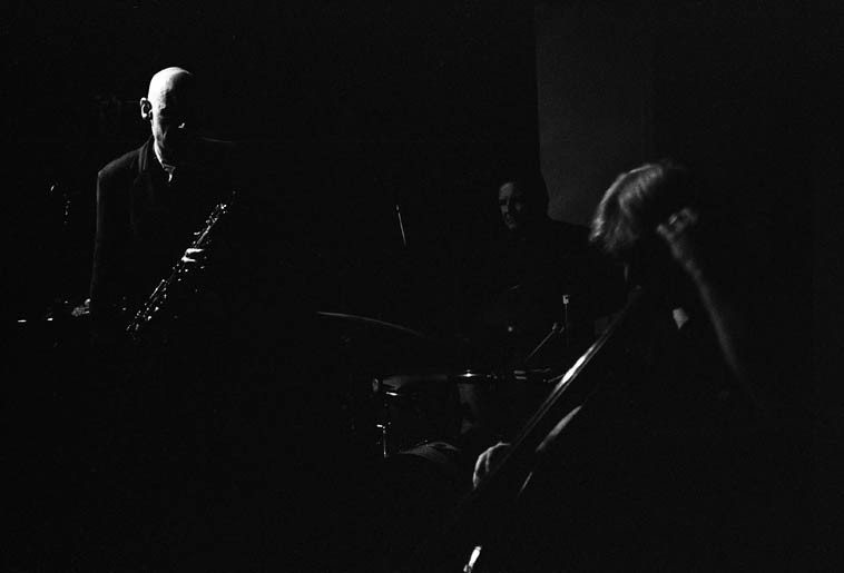 The Connie Crothers Quartet ---- August 23, 2o14 --- Roger Mancuso, drums; Ken Filiano, bass; Richard Tabnik, alto saxophone ---- photo by Mark Weber