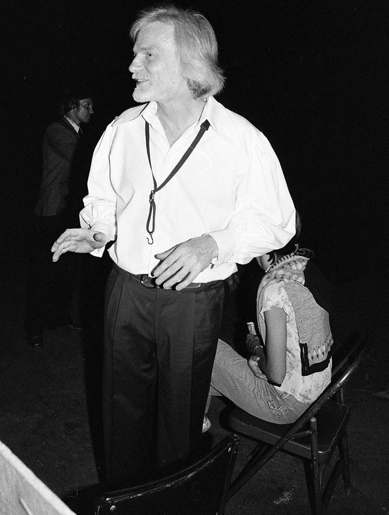 """As we stood around Gerry while he signed autographs someone further  back in the crowd, half in jest, yelled, """"Hey, Gerry, where's Chet?"""" -- July 30, 1980 --  photo by Mark Weber ---- Hollywood Bowl evening of Bless the Bird: A Tribute to  Charlie Parker ---- (obviously, at this juncture Gerry and Chet hadn't played  together since that 1974 reunion at Carnegie Hall which itself had been years -- 20? --  since they had last played together -- this guy who good naturedly had hollared was  possibly a habitue of the early 50s Haig days of the Quartet)"""