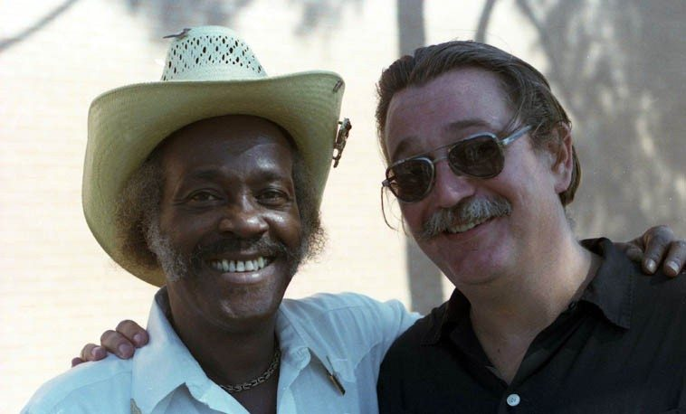 Chick Willis and Charlie Musselwhite ---- September 15, 1985 -- photo by Mark Weber
