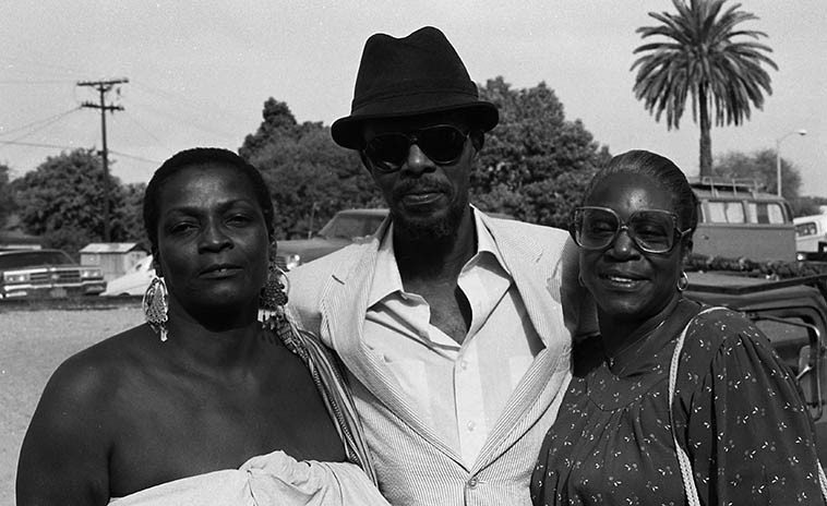 Linda Hill, Horace Tapscott, Cecelia Tapscott -- September 23, 1984 Los Angeles -- photo by Mark Weber