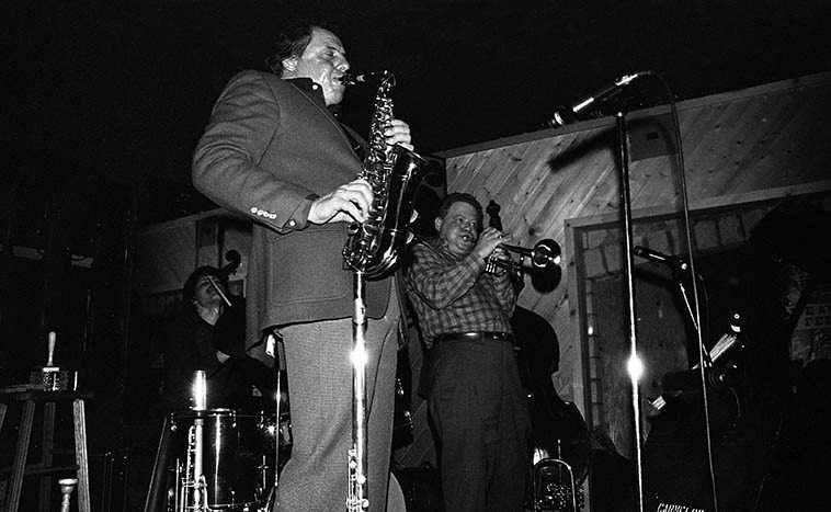 Ira Sullivan - Red Rodney Quintet w/ Garry Dial, piano; Jay Anderson, bass; Jeff Hirshfield, drums -- March 17, 1982 -- photo by Mark Weber