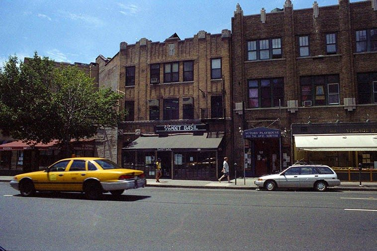Sweet Basil's jazz club in Greenwich Village, 88 Seventh Avenue South -- July 1, 1997 -- photo by Mark Weber
