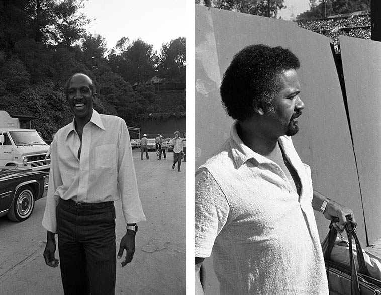 Jazz Crusaders Wilton Felder and Joe Sample -- Hollywood Bowl Playboy Jazz Festival -- June 20, 1981 -- photos by Mark Weber