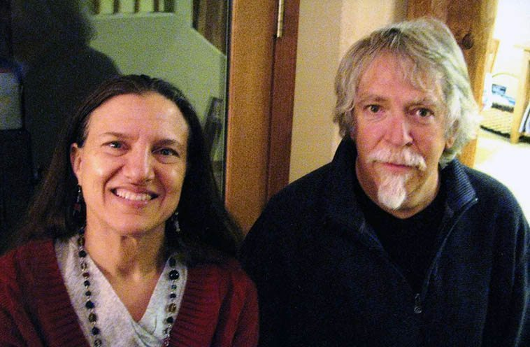 "Janet Simon & Mark Weber -- December 15, 2o12 photo by Karen Perez at Janet's Christmas office party at High Finance Restaurant on top of Sandia Peak ------ Like all of us, somewhere in our youth we have a transformative experience that sets us on our life path. Each of these friends had early epiphanies with music and all were on their instruments way before they were ten. As John Breckow points out: ""The fact that Lennie was so unconcerned with ""success"" or monetary recompense, in a sense, this was music that money could not buy. So, here we are: Celebrating the indelible legacy of modern jazz's first true visionary Lennie Tristano, an interlace of improvised jazz and transitive verbs, a homage to the legendary studio salon sessions that nurtured musical adventure, originality, and the boundless energy and excitement of in-the-moment jazz improvisation."" [John Breckow--KUNM Friday jazz host]."