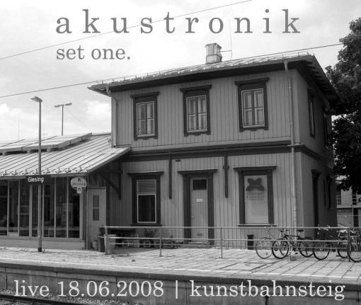akustronik - set one ; front cover