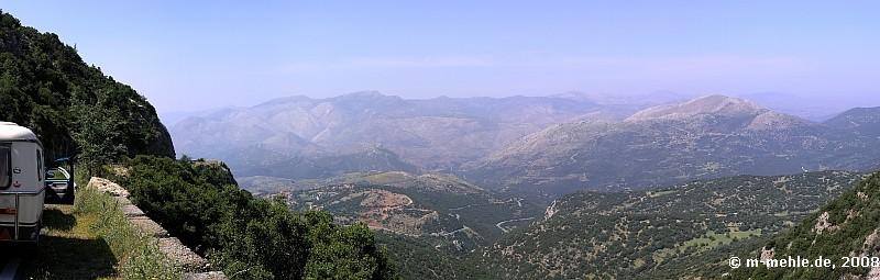 Unterwegs oberhalb der Lousiosschlucht, Arkadien, Griechenland