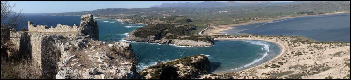 Die Ochsenbauchbucht, Messenien, Griechenland
