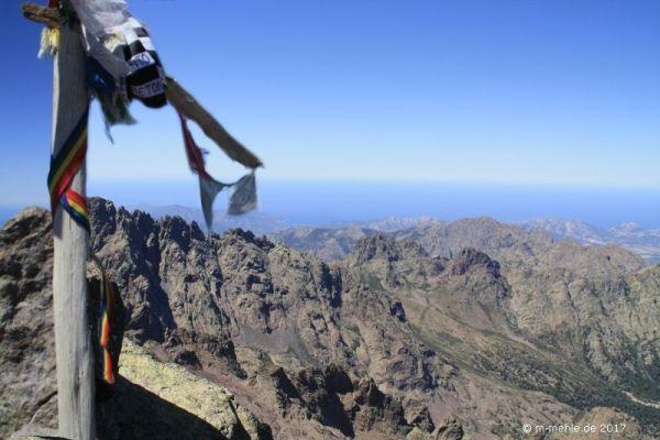 Blick vom Gipfel des Monte Cinto, Korsika