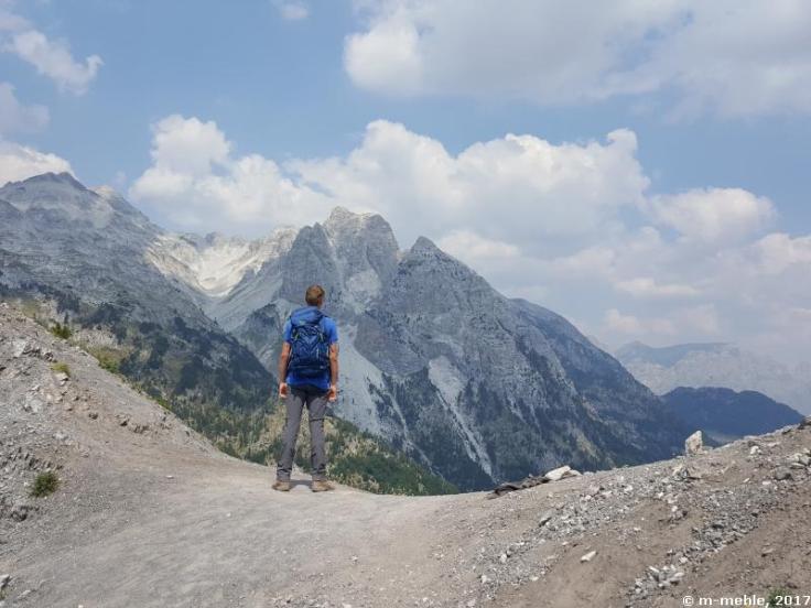 Am Qafa e Valbonës-Pass, Valbona, Albanien