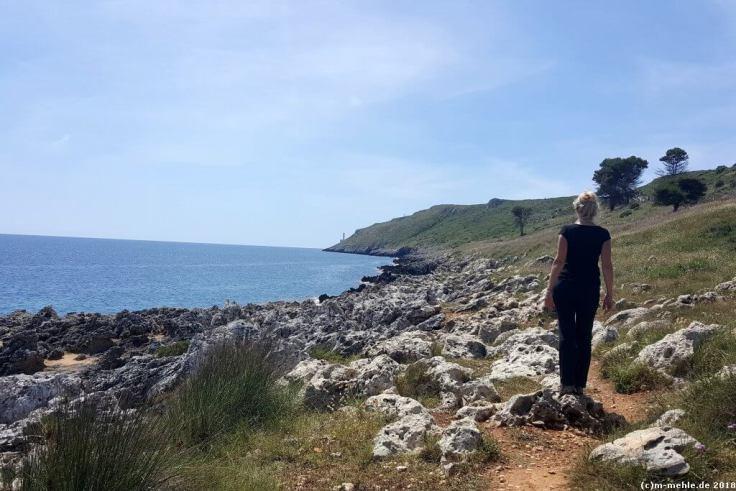 Blick zum Capo Otranto