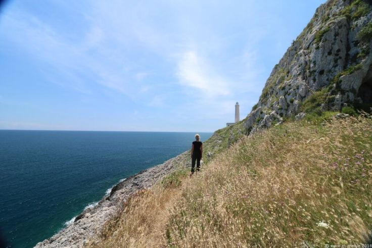 Blick zum Leuchtturm Faro di Punta Palascìa