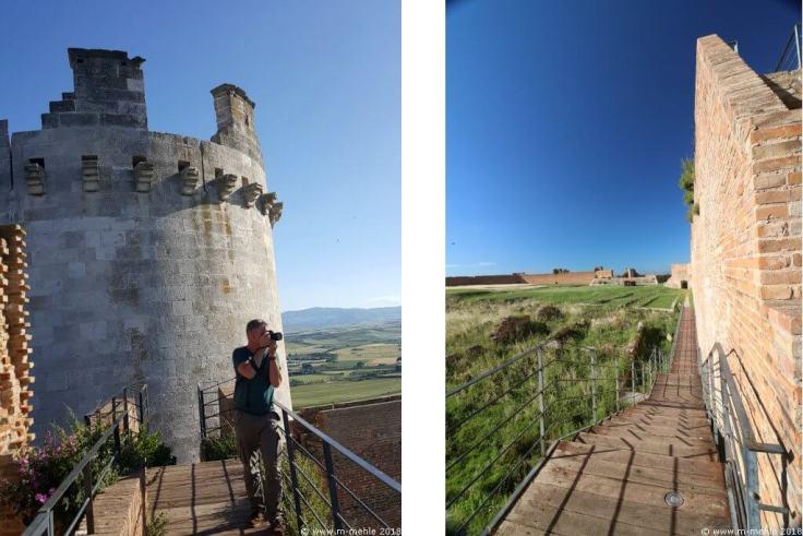 zwei Bilder des Castello di Lucera