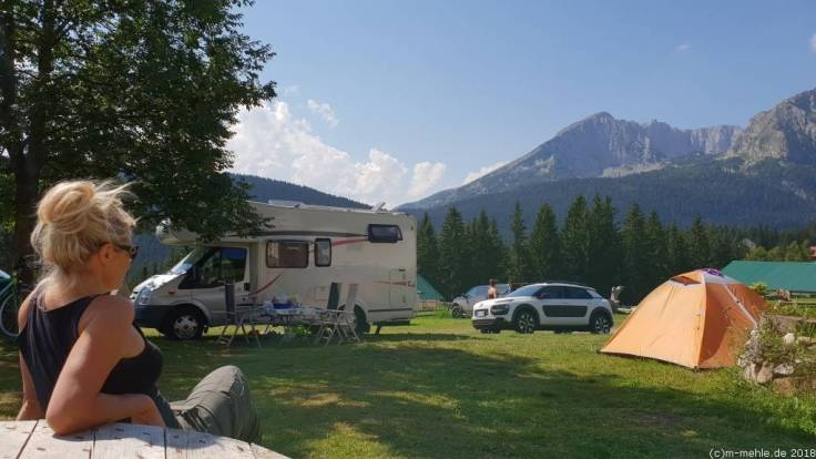 Blick vom Auto Camp Mlinski Potok, Montenegro