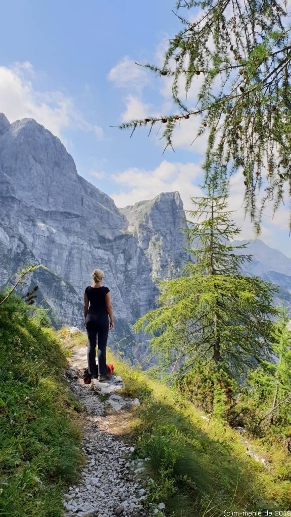 Zum Gipfel des Kanjavec in Slowenien