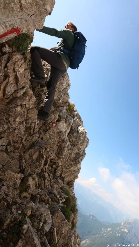 Zum Gipfel des Prisojnik, Slowenien