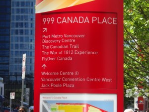 Canada Place 案内板
