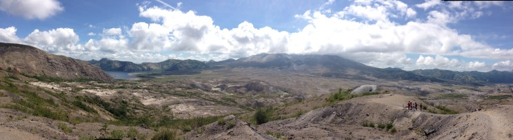 Panorama of Mt. St. Helens in Washington State