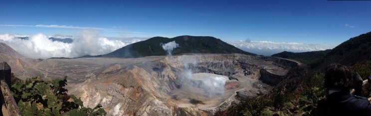 Panorama from the Poas Volcano in Costa Rica