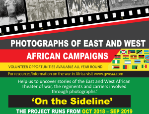 On The Sideline -Photographs of the East and West African Campaigns in World War 1 project to mark First World War Centenary