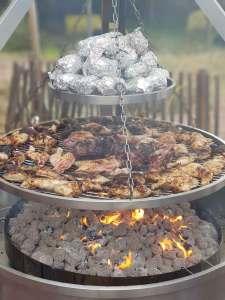 Barbecue géant rond inox-M-Traiteur toulon