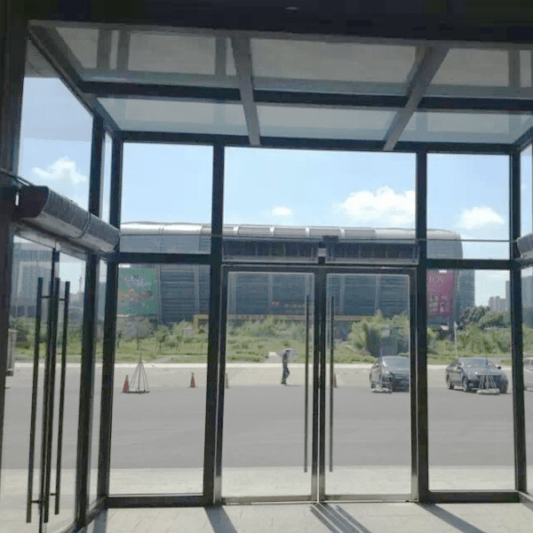 high speed cross flow air curtain for commercial and industrial contact switch air curtain