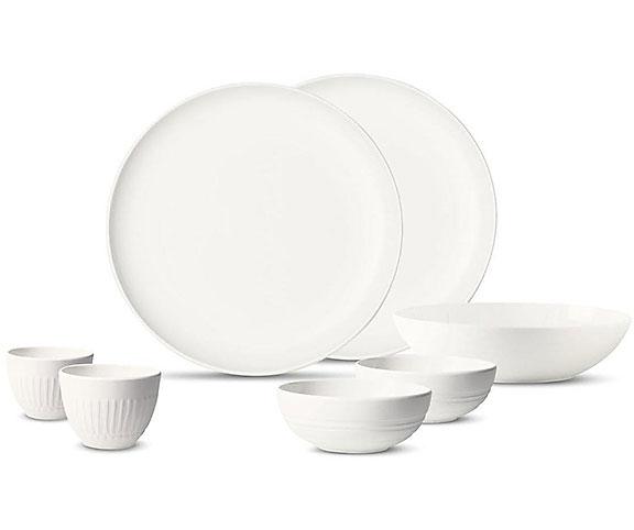 villeroy boch service de table blanc 7 pieces