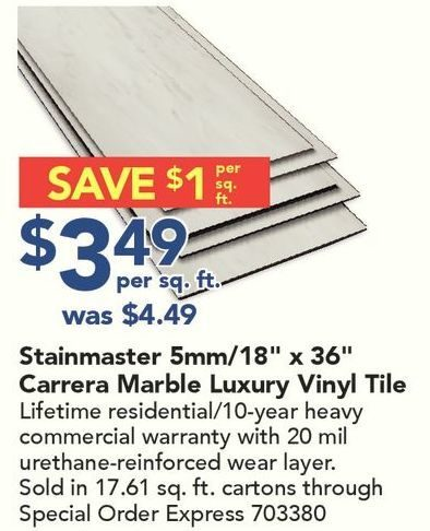carrera marble luxury vinyl tile