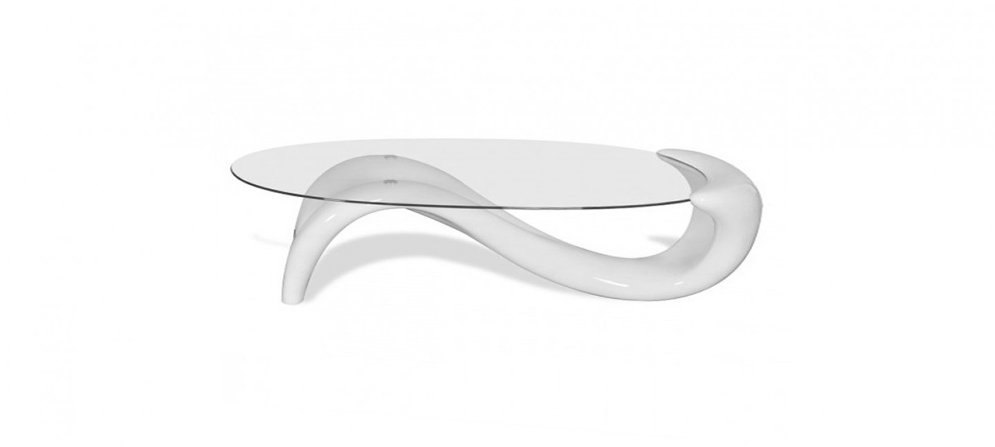 table basse design blanche wave