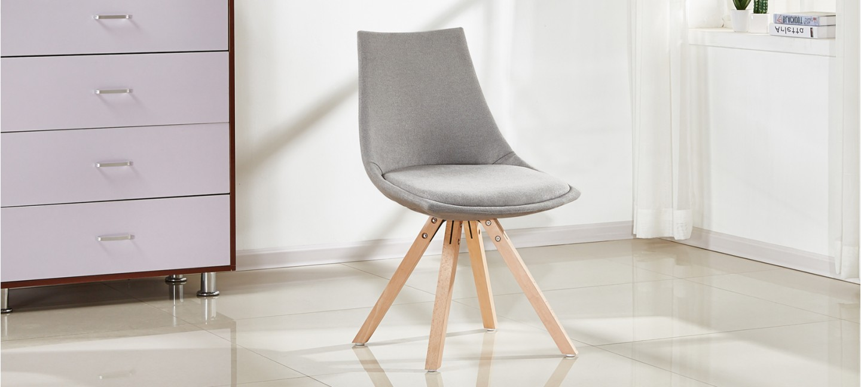 chaise scandinave en tissu minsk