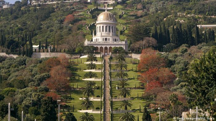 Bildergalerie Bahai Golden Shrine of Bab in Haifa Israel (Getty Images/AFP/J. Guez)