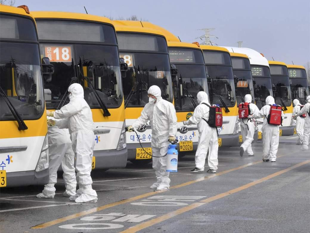 Image result for buses coronavirus delhi