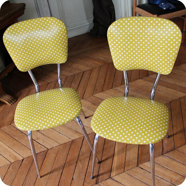 chaise de cuisine annees 60