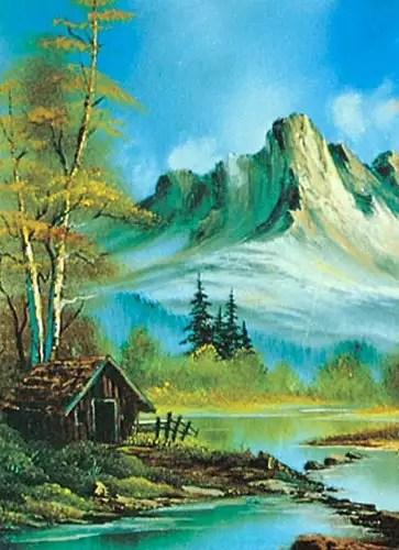 Malen Wie Die Grossen Kunstler Berglandschaft Nach Bob Ross Teil