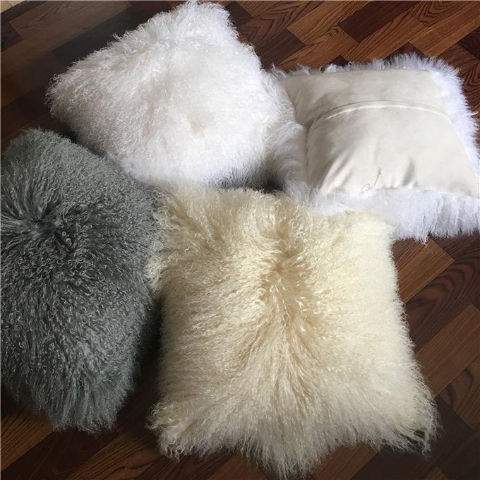 16 oreiller mongol de laine d agneau de peau de mouton d oreiller de peau de