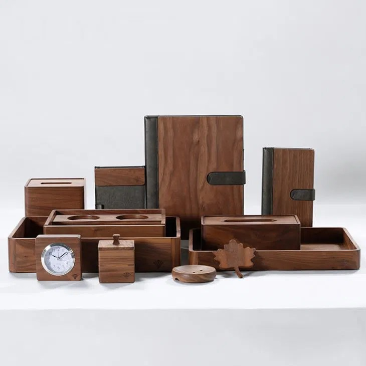 China Customized Dark Wood Bathroom Accessories Set Manufacturers Suppliers Factory Direct Wholesale Good Faith
