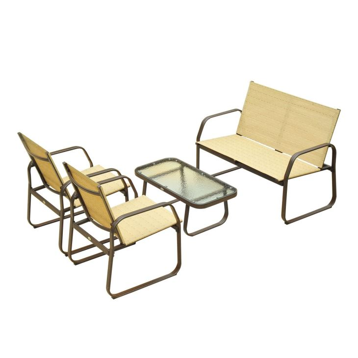 china aluminum mesh outdoor textiene furniture set manufacturers and suppliers factory price sinohere