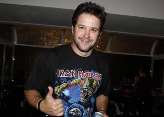 Murilo Benício no show do Iron Maiden no Rio de Janeiro (28/3/2011)
