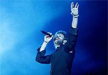 O vocalista Chris Martin durante show do Coldplay em SP