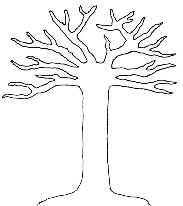 tree trunk outline colouring pages page 2