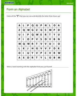 form an alphabet letter worksheets free kindergarten pre school