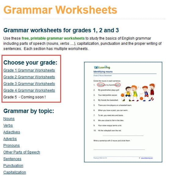 Hundreds Of New Grade 4 Grammar Worksheets