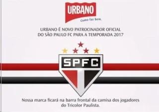 Resultado de imagem para São Paulo acerta novo patrocínio Urbano